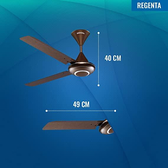 Seion Regenta Ceiling Fan - Dimensions