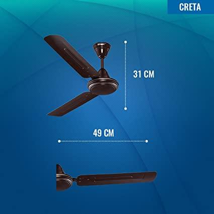 creta fan size