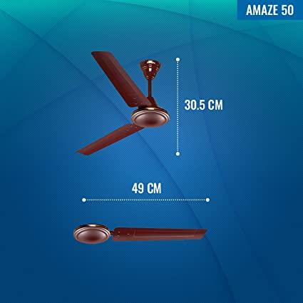 Seion Amaze 50 - Ceiling Fan Dimensions