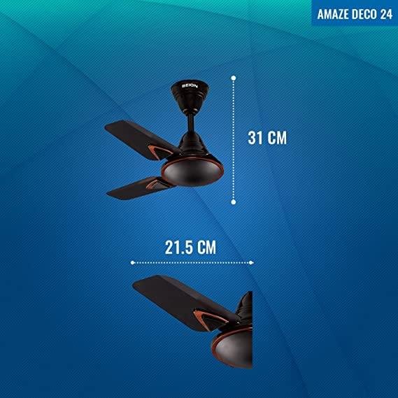 Amaze Deco 24 - Small Ceiling Fan Dimensions