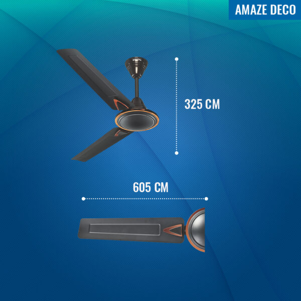 Seion Amaze Deco Ceiling Fan - Dimensions