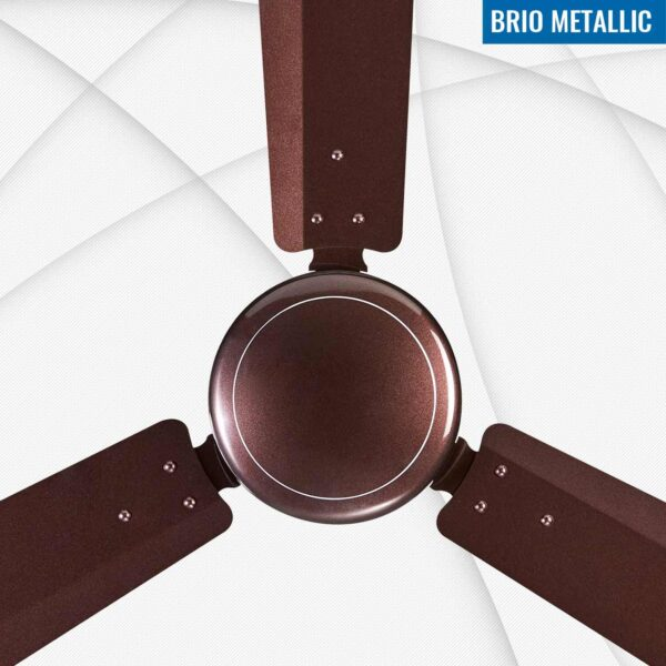 Seion Brio Metallic Ceiling Fan - Brown